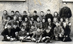 Pupils from Termonfeckin National School with school principal, Mr Donal McGinley (circa. 1945)